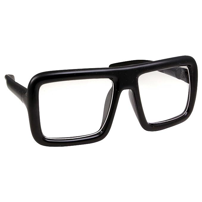 Amazon.com: Gafas de sol gruesas con marco cuadrado, lentes ...