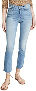 product image for MOTHER Women's The Mid Rise Dazzler Ankle Fray Jeans
