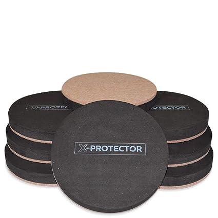 Felt Sliders X PROTECTOR (8 Pieces) 4 3/4 Inch Wood