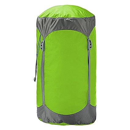 Trekmates Ultralight Compression - Funda de compresión para Saco de Dormir, Color Verde, Talla