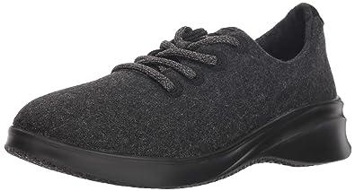 4c4cfcbcd JSport by Jambu Women s Crane Wool Lace Up Sneaker Black 6 Medium US