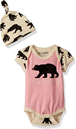 Little Blue House by Hatley Baby-Boys Bodysuit and Cap Sleepers