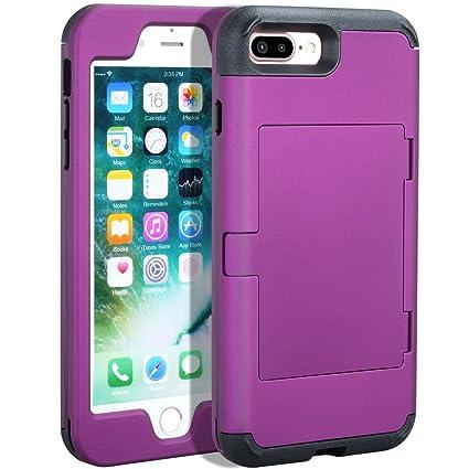 Amazon.com: iPhone 7 Plus Funda, purpplex lujo espejo duro ...