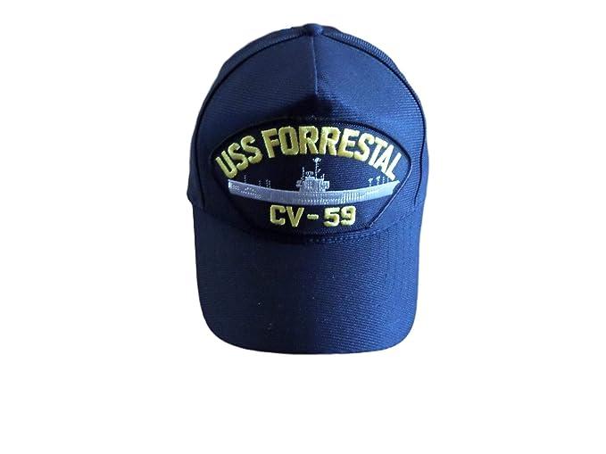 Amazon.com  Eagle Crest USS Forrestal CV-59 Navy Ship HAT USA Made ... 1603788cb30
