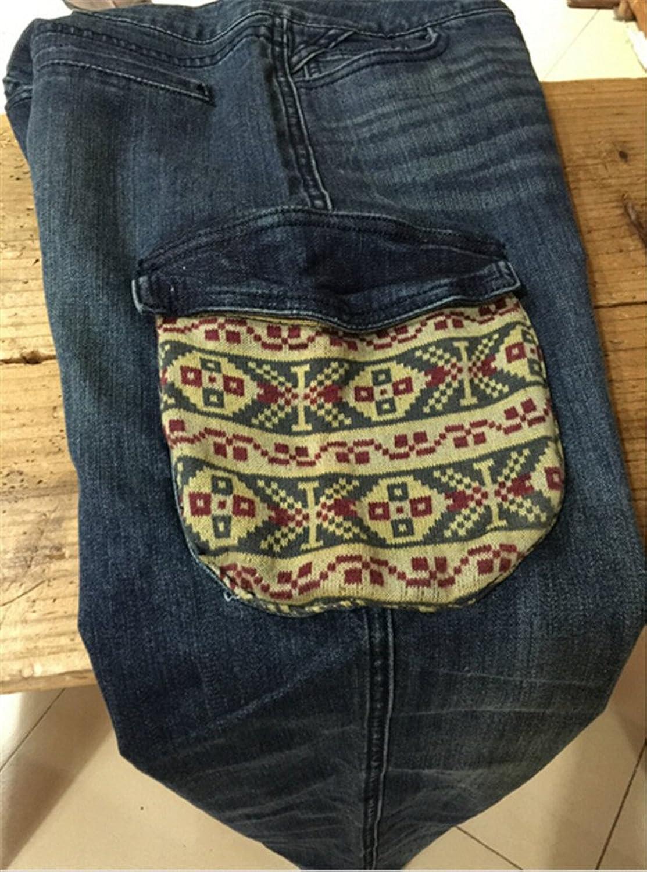 Allbebe Women Plus Size Loose Slim Boyfriend Denim Pants Jeans Trousers