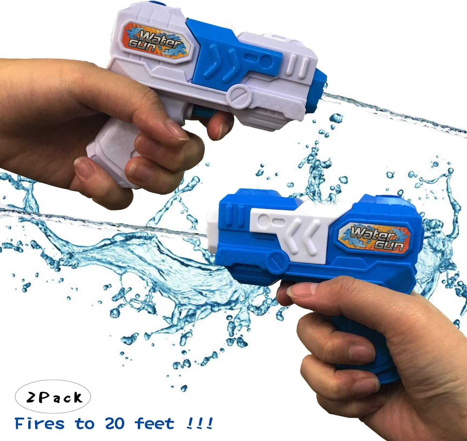 Ziwing Water Squirt Pistol Gun Pocket Size 2 Pack for Kids Adults ,Hot Summer Water Blaster Toys 2019 New: Amazon.es: Juguetes y juegos