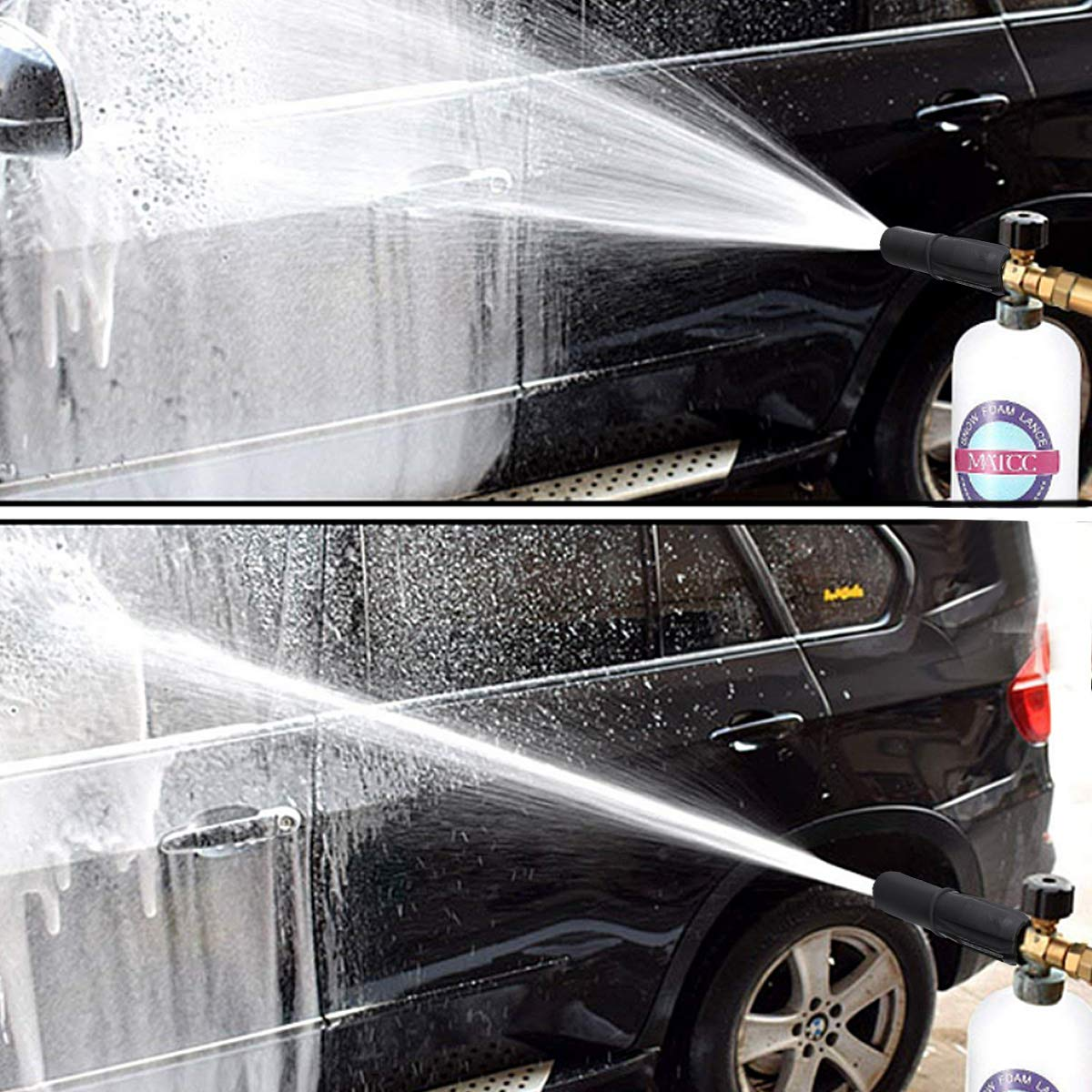 MATCC Foam Cannon II Foam Nozzle Pressure Washer Jet Wash with 1/4'' Quick Connector Foam Blaster 0.22 Gallon Bottle Improved Snow Foam Lance by MATCC (Image #7)
