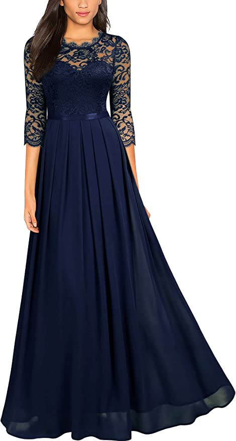 Alternative Gothic Bridesmaid Wedding Maxi Dress