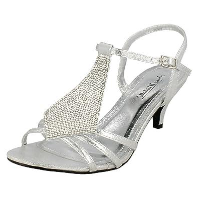 Anne Michelle Ladies Peep Toe Mid Heel Sandal