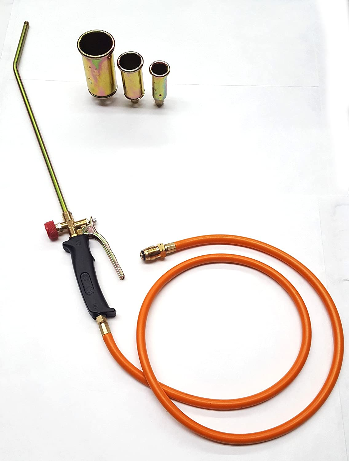 Portable Propane Weed Torch Burner Wadoy Propane Torch Burner with 3 Nozzles Ice Snow Melting