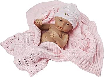 Muñecas Guca - Muñeca recién Nacida, con toquilla y gorrito, 36 cm (581)