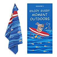 ROCONTRIP Beach Towel Travel Microfiber, Soft Fast Dry Absorbent Antibacterial Swimming Towel Microfiber Travel Sports Tower for Bath Bay Camping