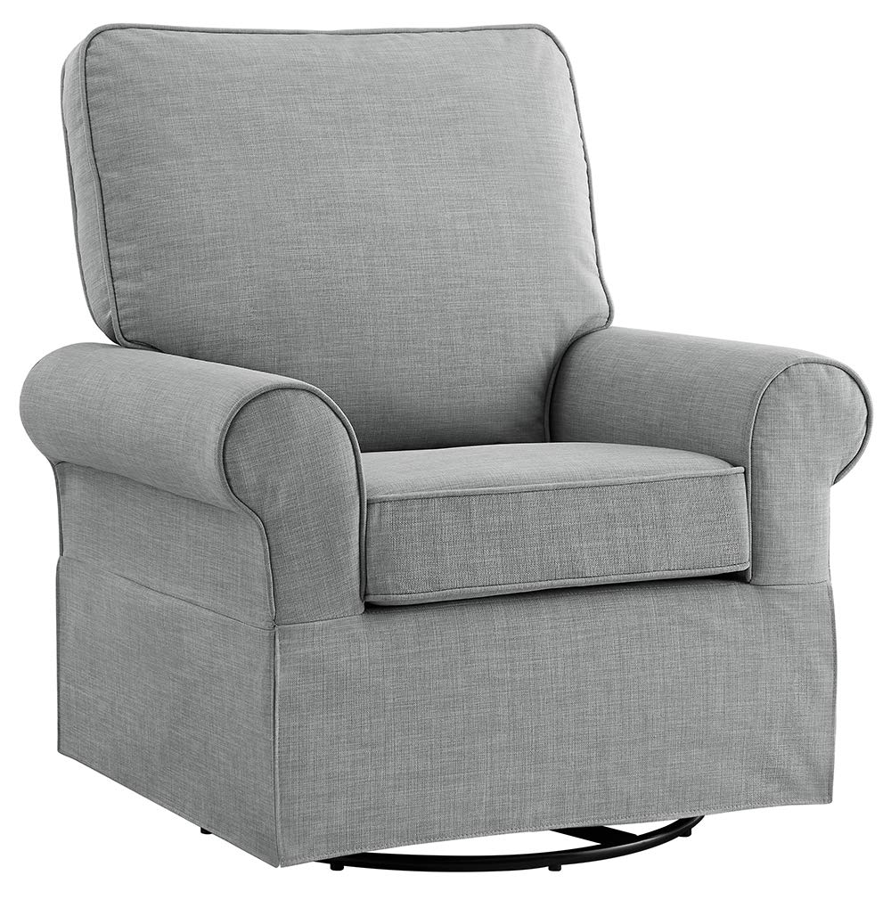 Angel Line Natalie Upholstered Swivel Glider, Grey by Angel Line