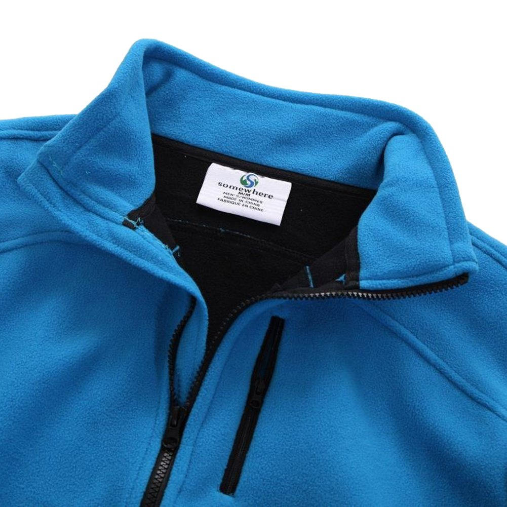 Somewhere Men's Full-Zip Fleece Composite Colors Autumn/Winter Essential Slim-Fitting Jacket(XXL) by Somewhere (Image #5)