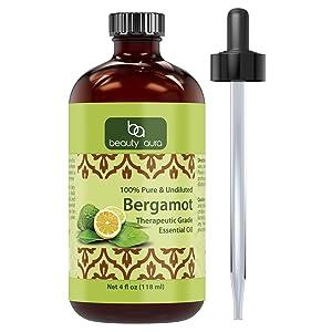Beauty Aura Essential Oil, Bergamot, 4 Ounce