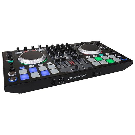 JB Systems de DJ Kontrol 4 profesional de 4 canales Controlador MIDI Incluye software Virtual DJ Le: Amazon.es: Instrumentos musicales
