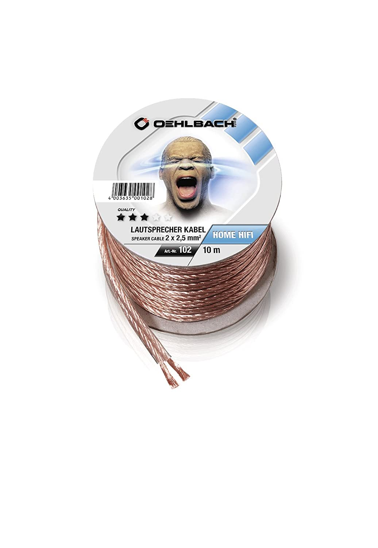 Oehlbach Speaker Wire SP-25 | Lautsprecherkabel 2 x 2,5: Amazon.de ...
