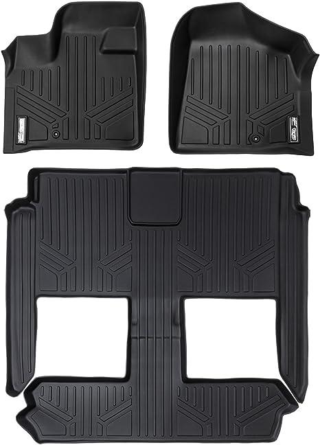 Maxliner Floor Mats 3 Row Liner Set Black For 2008 2018 Dodge Grand Caravan Chrysler Town Country Stow N Go Only