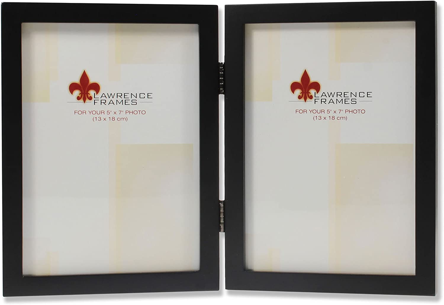 Lawrence Frames Hinged Double Black Wood Picture Frame Gallery Collection 5 By 7 Inch Professional Art Frame Kits Amazon Com