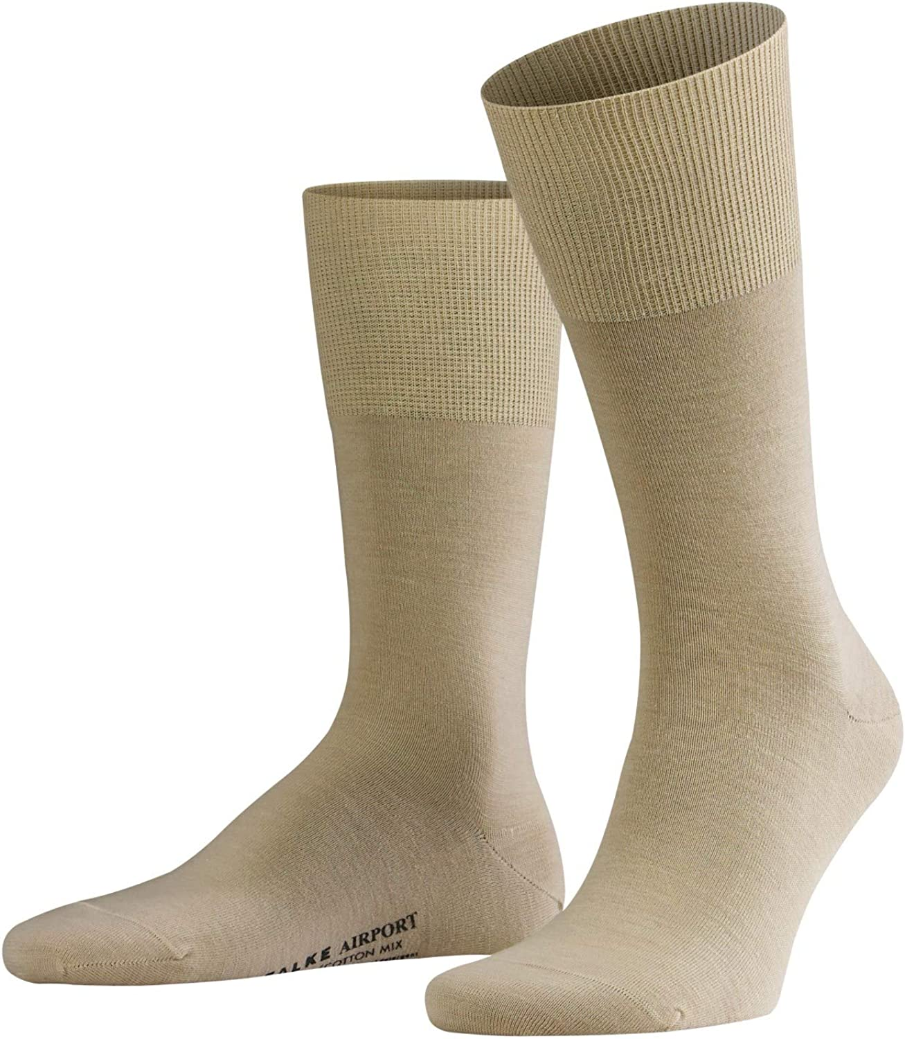 FALKE Mens Airport Dress Sock - Merino Wool/Cotton Blend, Multiple Colors, US sizes 6.5 to 15, 1 Pair
