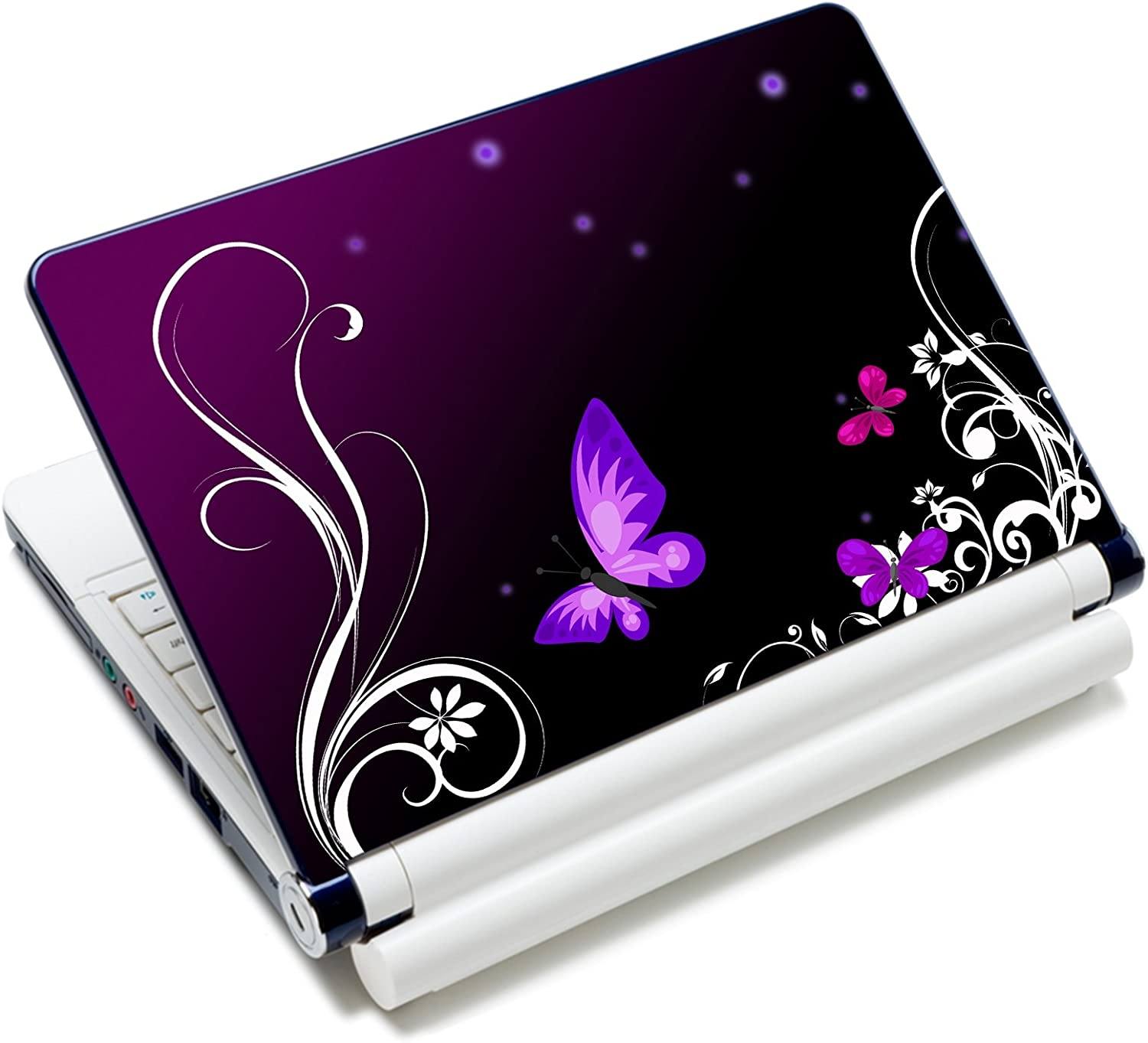 "iColor Laptop Skin Sticker Decal Covers 12"" 13"" 13.3"" 14"" 15"" 15.4"" 15.6 inch Laptop Skin Sticker Cover Art Decal Protector Notebook PC (Purple Butterfly)"