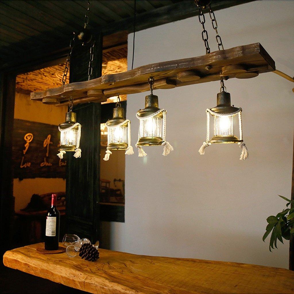 Unbekannt Europäische Moderne Holz Metall Licht Kronleuchter ...