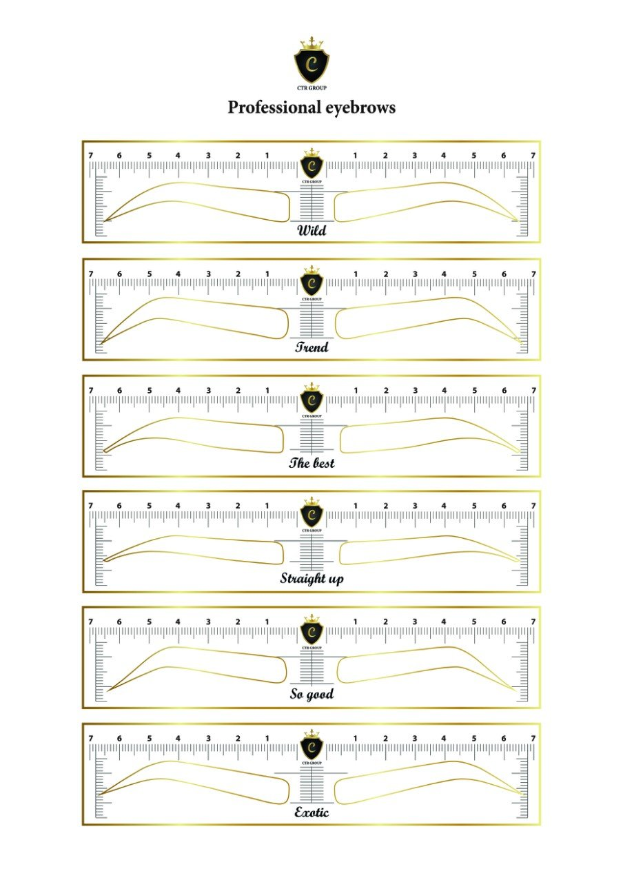 CTR Stencil Sticker for Eyebrow Microblading Template 48 units 12 Different Forms by CTR (48 units) by CTR