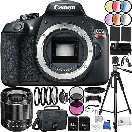 Amazon Com Canon Eos Rebel T6 Dslr Camera 35pc Accessory