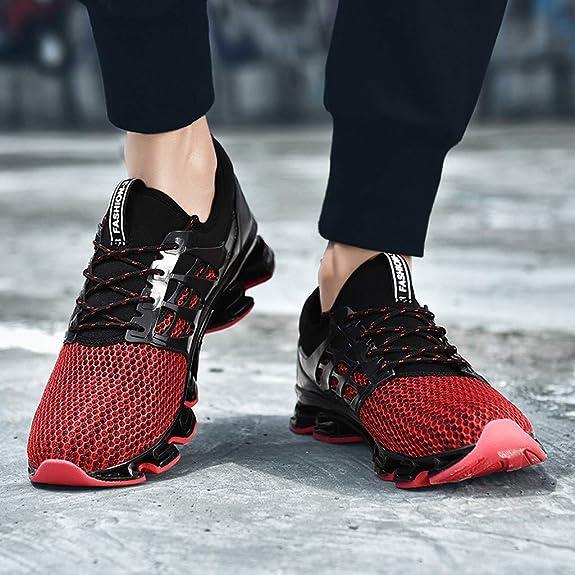 Sencillo Vida Zapatillas de Deporte Unisex Adulto Zapatillas de Running para Hombre Cordones Transpirables Sneakers Hombres Zapatos Casuales para Correr Gimnasio Senderismo Aire Libre: Amazon.es: Zapatos y complementos