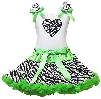 Saint Valentin robe à volants jupe Zebra Cœur Blanc en coton pour homme  Vert Zebra Lot 47780ed0abd