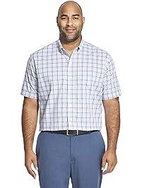 ae9be152 Van Heusen Men's Big and Tall Flex Short Sleeve Button Down Tattersal Shirt