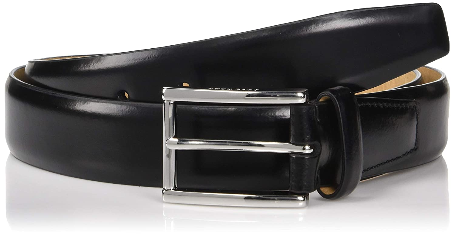 Cole Haan Mens 32mm Spazzolato Leather Dress Belt