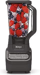Ninja Professional BL710WM 1000 Watt Smoothie Maker Margarita Mixer Ice Crusher Food Processor Kitchen Blender (Renewed)