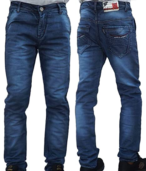 56770d8014d Men s Denim Blue Jeans Pants Stretchable Slim Fit Stylish Branded Jeans for  Men Gents Boys  Amazon.in  Clothing   Accessories