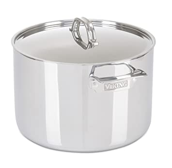 Viking culinarias 3-ply acero inoxidable olla: Amazon.es: Hogar