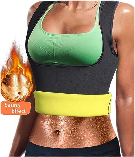 e9255e3a0fe GloryLife Women Neoprene Sauna Sweat Waist Trainer Vest with Zipper for  Weight Loss Gym Workout Body Shaper Tank Top Shirt