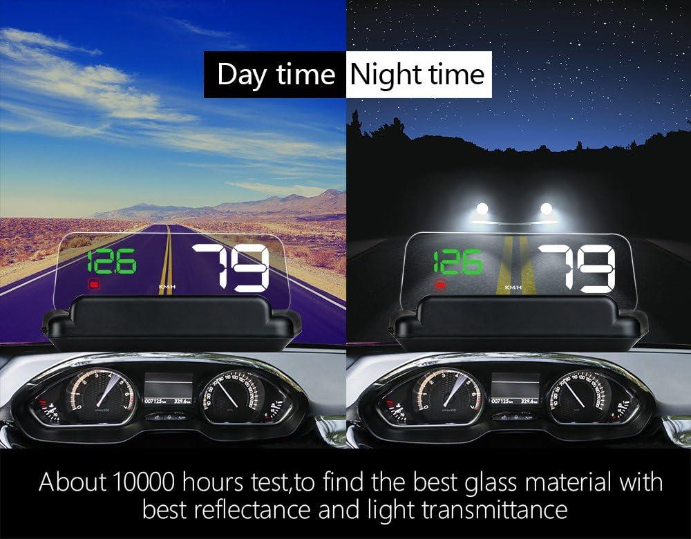 HUD Display GPS/OBD2 Head High Visualization HUD Digital GPS Light Sensor Performance Competitive Direction Driving Mileage Altitude Time Travel Speed Alarm
