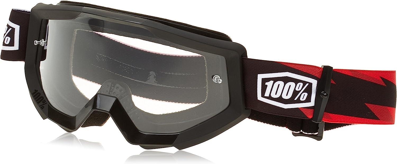 100/% Strata Goggle Slash with Clear Lens