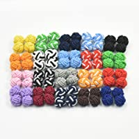 20 50 100 Pairs New Silk Knot Cufflinks Cuff Links Blank Pad MIx color