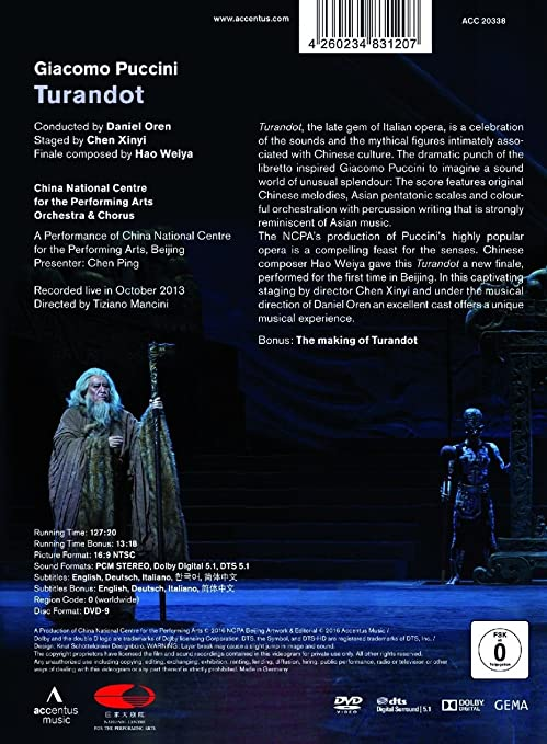 Giacomo Puccini: Turandot [Import]: Amazon ca: CHINA