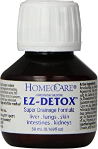 Homeocare Labs EZ-Detox Super Drainage Formula for Liver, Lungs, Skin, Intestines and Kidneys, .169 Fluid Ounce