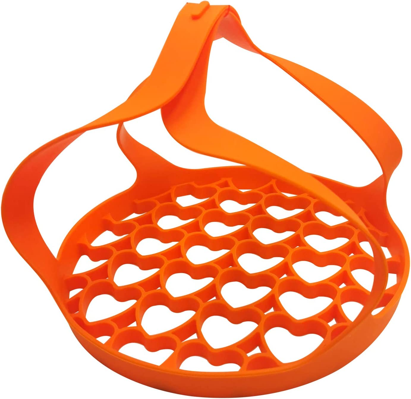 Pressure Cooker Sling,Silicone Sling Lifter Accessories, Anti-scalding Bakeware Lifter Steamer Rack for 6 Qt/8 Qt Instant Pot, Ninja Foodi and Multi-function Cooker (Orange)