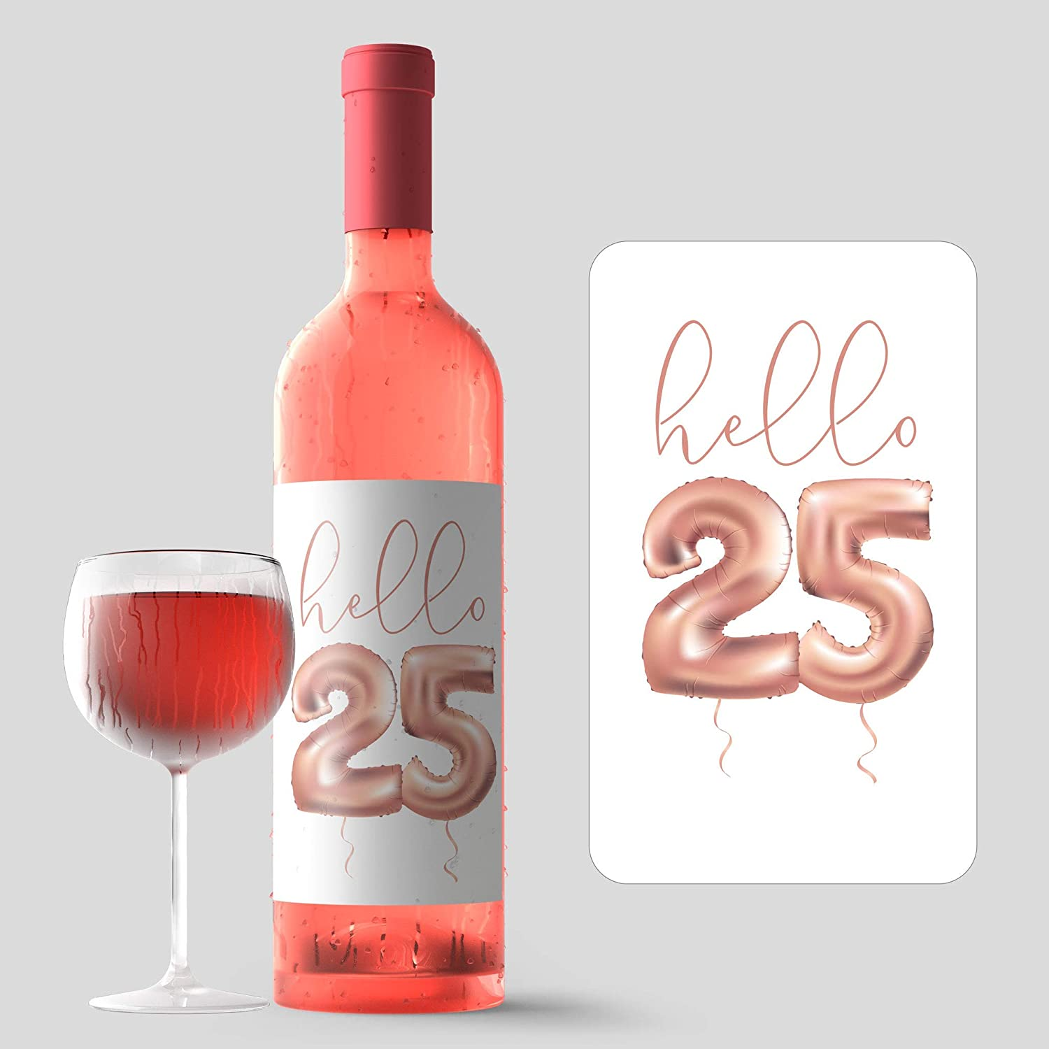 Merry Christmas Vinyl Decal Stickers Wine Glass Bottle 6 10 Set Rose Gold