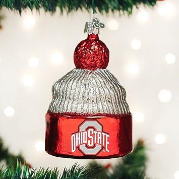 Amazon.com: Old World Christmas Ohio State University Beanie Glass ...