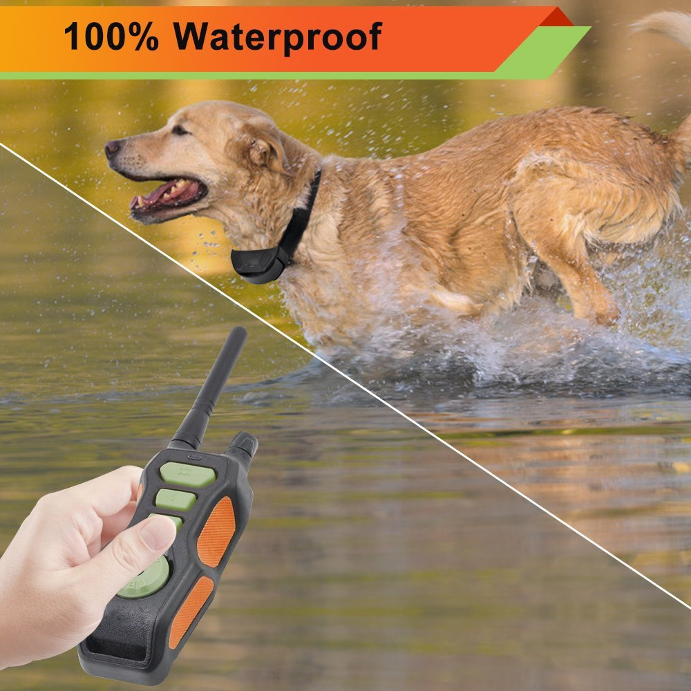 GREENWON Remote Dog Shock Collar Waterproof & Rechargeable Training Collars with Beep Vibrating Electric Shock Trainer Collar (For 1 Dogs)