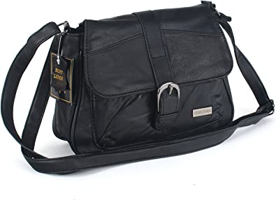 sac à main femme cuir noir lanière boucle