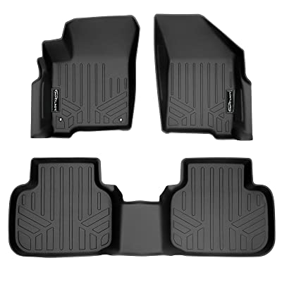 MAX LINER A0198/B0198 for 2012-2020 Dodge Journey with 1st Row Dual Floor Hooks, Black: Automotive