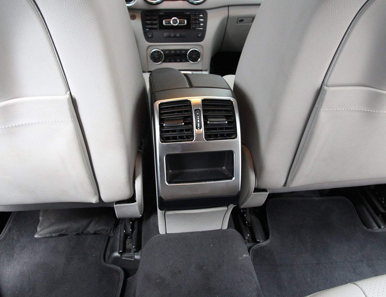 Top-Auto ABS Mate con Logo de Aire Acondicionado Trasero Cubierta de Salida para Mercedes Benz GLK X204 200 300 360 2012-2016