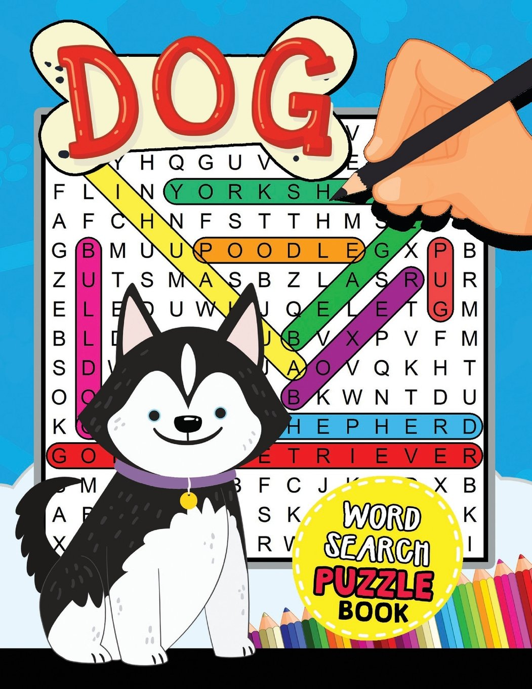 Dogs Word Search Puzzle Book: Easy and Fun Activity Learning Workbook with Coloring Pages pdf epub