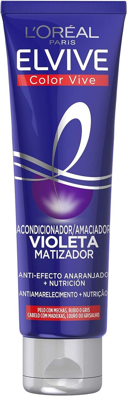 LOréal Paris Elvive Color Vive Mascarilla Violeta Matizadora para el Pelo con Mechas, Rubio o Gris - 150 ml